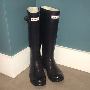 Original Tall Hunter Boots - Navy
